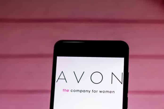 Avon logo on mobile.