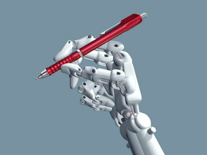 Robots won't hold the pens just yet