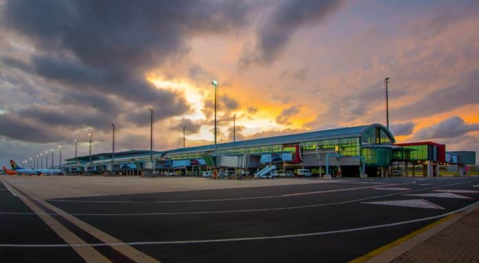 King Shaka International Airport.