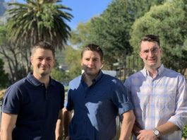 anaging Director of Flyt Property Investment, Zane De Decker with Bakari Co-Founders Ciaran MacDevette and Daniel Kimber