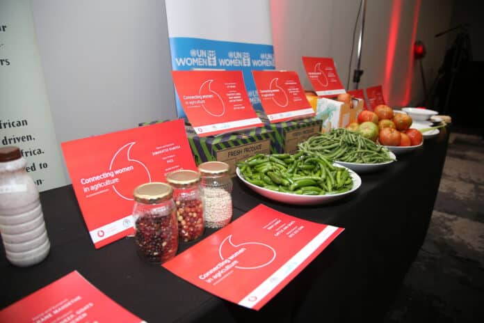Produce stand at the launch event in August 2019