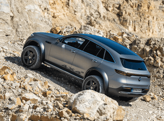 Electric luxury goes off-road. The Mercedes-Benz EQC 4x4² vehicle study