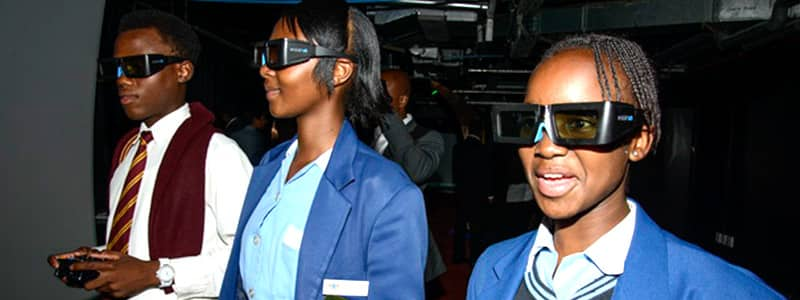 School children experience the Idome Mobile at the Tshwane IDC Inauguration